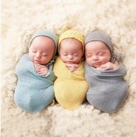 Wholesale Photography Stretch Wrap - Newborn Photography Props Infant ft Photo Wrap Stretch Baby Photo Props Swaddling 40*150cm Baby Swaddling Blankets Photo Props KKA3207