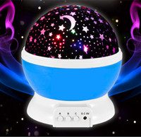 Wholesale Bedroom Projector Lights - 2016 Newest Rotation LED night light USB DC5V Starry Moon Sky Projector Christmas decoration lights for bedroom