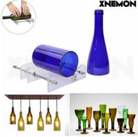 schnittflasche großhandel-XNEMON Neue DIY Glas Wein Flaschenschneider Schneidemaschine Glas Kit Handwerk Maschine Recycling Werkzeug Hohe Qualität Sicherheitsglas Werkzeug
