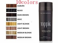 Wholesale Toppik Hair Wholesale - 10colors in stock Hair Loss Concealer Instant Styling Powders 27.5g Toppik Hair Keratin Fiber Spray Applicator facory supply