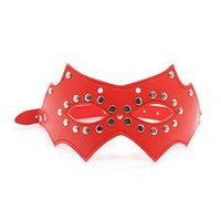 Wholesale Top Sexy Woman Toys - Top Grade Sexy Masks Erotic Goods Red Leather Mask Blindfold Fetish Bdsm Party Women Masquerade Adult Game Bondage Sex Toys For Couples