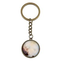 Wholesale Hangers For Men - Antique Bronze Round Earth Mars Sun Solar System Planet Glass Keychain Key Rings for Bags Car Hanger Men Women Jewelry Gifts