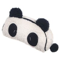 Wholesale panda pencil bag - Wholesale- TEXU Soft Plush Panda Pencil Phone Card Case Cosmetic Makeup Bag Pouch Purse