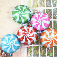 pirulitos redondos venda por atacado-Venda quente Frete grátis 1 pcs rodada brinquedos infantis, pirulitos de doces balões de alumínio decoração de festa de aniversário balão