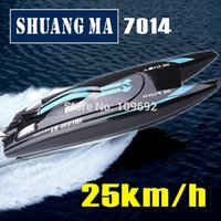 Wholesale Submarines Toys - Wholesale- Free shipping Double Horse DH7014 2.4G high-speed 25km h rc boat toys Speedboats shuangma model Electric remote control children