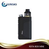 Wholesale E Max Cig Batteries - Original IJOY RDTA BOX Mini Kit 6ml Capacity 2600mAh Battery Max 100W Wattages 100% e cig VAPE