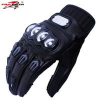 Wholesale men s brown leather gloves - Wholesale- Goat Skin Pro-Biker 06 Motorcycle Gloves motorbike Moto luvas motociclismo para guantes motocross racing Glove motocicleta