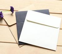 boş kraft zarflar toptan satış-100 adet / grup için 10 * 10 cm Kraft Kare Mini Boş Zarflar Üyelik Kartı / Küçük Tebrik Kartı / Depolama Kağıt Zarflar