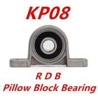 Wholesale Wholesale Bearing House - Wholesale- Free shipping 4pcs lot KP08 8mm diameter zinc alloy bearing housing K08 P08 flange bearing with pillow block bearing