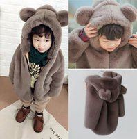 Wholesale Cheap Clothes Stock - Lovely Child Wearing Winter Clothes Cheap Girl Boy Warm Wool Outwear Free Shipping In Stock Children Clothing