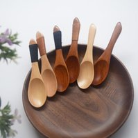 """Wholesale Wholesale Wooden Spoon Small - 4.1"""" Japan Style Eco-Friendly Wooden Spoon Utensil Short Kitchen Cooking Sugar Salt Small Spoons On Sale Wholesale"""