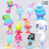 Wholesale Cake Set Toys - 12 pcs   set Trolls Ugly Princess Babies PVC Figures blancpie cakes decorations dolls children toys gifts Brinquedos