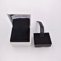ingrosso confezione regalo di gioielli imballaggio-Autentico fascino perline scatola di imballaggio per gioielli in stile pandora borchie di alta qualità pacchetti di gioielli regalo all'ingrosso