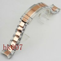 Wholesale Clasp Kits - P565 Watch 40mm Kit 20mm 316L Solid Rose Gold Stainless Steel Bracelet