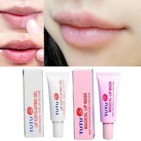 Wholesale Exfoliate Cream - Wholesale-2Pcs lot Lip Exfoliating Gel And Lips Mask Dead Skin Remover Notorious Moisturizing Natural Safe Lip Exfoliate Cream Y2