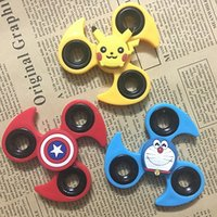 Wholesale Cartoon Windmill - Fidget Spinner windmill Cartoon Anime Pikachu Hand Spinner Colorful EDC finger gyro For Prevent Autism and ADHD Anti Stress Toys Kid Gift