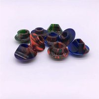 Wholesale Epoxy Circles - Newest TFV8 Epoxy Resin Big Drip Tips with Circle and Flat Wide Bore Mouthpiece fit Smok TFV8 TFV12 Tank