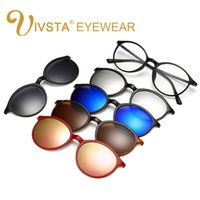IVSTA Buy one get 5 Magnetic Clip Sunglasses Women Glasses with Magnetic Clip on Occhiali da sole Cat eye Polarized 2223 Reading Frame