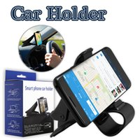 Wholesale Retail Clamps - Phone Holder For Iphone 7 Clamp Clip Phone Holder For Samsung Galaxy S8 Universal Car Phone Holder With Soft Dop With Retail Box