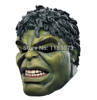 Wholesale Facing Giants - Wholesale-Halloween Green Giant Rubber Mask Cartoon Hulk Latex Masks Carnival Party Cosplay Superhero Bruce Banner Masquerade Head Mask