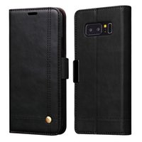 Wholesale Magnet Cover Iphone 5s - Leather Wallet Case For Samsung Galaxy Note 8 S8 Plus S7 Edge iPhone 5 5S Se 6 7 Plus Cover Magnet Flip Pouch