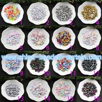 Wholesale plastic for jewelry making resale online - Best Selling Alphabet A Z Mixed Colors Cubes Acrylic plastic Opaque Square letter beads for Jewelry Making