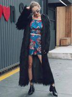 Wholesale Knit Mink Fur Coat - 2017 Winter new Women Imitation Mink Fur Coats Fashion Slim thick warm Faux Fur Outerwear Plus Size female long Coats