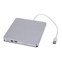 schlanke tragbare dvd großhandel-Freeshipping beweglicher USB3.0 dünner externer CD / DVD-RW / CD-RW DVD Brenner-Verfasser-Antrieb für Mac PC Laptop