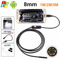 Wholesale Endoscope For Cars - HD 720P Android OTG USB Endoscope Camera 7mm 5M 3.5M 2M 1.5M 1M Flexible Snake USB Pipe Inspection Borescope car inspection for phone pc