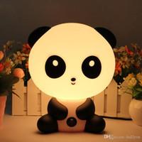 Wholesale Led Nightlights For Kids - 2017 Brand New Baby Bedroom Lamps Night Light Cartoon Pets Rabbit Panda PVC Plastic Sleep Led Kid Lamp Bulb Nightlight for Children