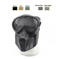 Outdoor Airsoft Shooting Protection du visage Gear Metal Steel Wire Mesh Full Face Bee Style Tactical Airsoft Mask
