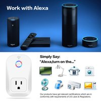 Wholesale Made Center - Alexa Smart wifi plug remote controller help you make the Articifical Intelligence socket home center US UK EU Plug Android IOS App