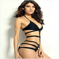 Wholesale Conjoined Bikini - Women 's summer new Swimwear bind triangle conjoined sexy swimsuit bikini 40644