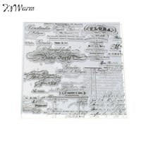 Wholesale Diy Handmade Photo Album - Wholesale-Decor Handwritten Text Transparent Clear Silicone Stamp Seal for DIY Card Handmade Scrapbooking Photo Album Hand Account
