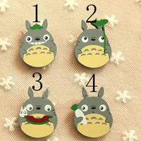 Wholesale Totoro Girl - totoro Kids Brooch 2017 New Cute Cartoon Wooden Children Pin Brooch Children's stationery Boys Girls Accessories C134