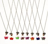 Wholesale Order Glass Flowers - Free shipping Fashion dried flowers drift bottle necklace DIY alloy retro heart glass necklace WFN288 (with chain) mix order 20 pieces a lot