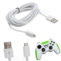 Wholesale White Ps4 - White USB 10ft 3M Micro Power Charging Cable Cord For PS4 Xbox One Controller