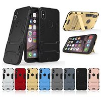 Wholesale iphone armour - Iron Man Cover For Iphone X 7 8 7Plus 6 6S Plus 5 5S SE Hybrid Shock Proof Hard Armour Heavy Rubber CASE