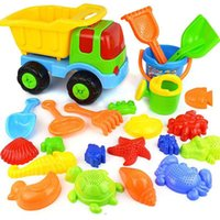 Wholesale Beach Play Sets - Beach Toys Set Sand Toys for Kids, 9-Piece with Shovels Bucket in Reusable Zippered Bag, More Durable