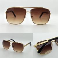 Man square hollow - New luxury brand designer sun glasses metal square hollow frame outdoor summer style top quality anti UV lens
