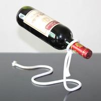 metal şarap rafı toptan satış-Yaratıcı Şarap Tutucu Ev Egzotik mutfak oturma Odası Dekor Bira Tutucu Bar Şarap Rafı Halat Şekli Süspansiyon Raf 7 6ds J