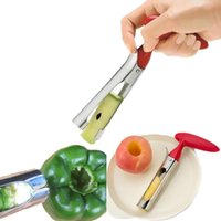1 pezzi Dispositivo di scorrimento per separatore di rimozione del dispositivo di scorrimento dell'acciaio inossidabile Frutta Apple Corer Pitter Seeder knife kitchen accessories
