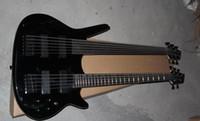 ingrosso corde doppie di basso-Collo basso personalizzato nero doppio collo basso elettrico corde 5 corde basso 6 corde chitarra acero nero hardware