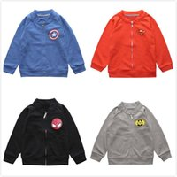 Wholesale New Coats Design For Boys - New Boys Kids Jackets Coats Children The Avengers Designs Baseball Jackets Coats Pre School Cotton Long Sleeve Outwear Clothes For 0-6T