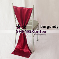 Satin Chiavari Chair Sash \ Bow With The Buckle - Couleur Bourgogne