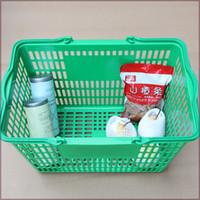 Wholesale Pc Supermarket - Wholesale Supermarket shopping baskets with plastice handle hotel restaurant kitchen handling basket size: 480*330*280mm N.W.: 0.64kg PC