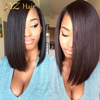 Wholesale Human Hair Middle Part Wigs - JYZ Brazilian lace front Wig Glueless Human Hair Full Lave Wig Bob Wig Middle Middle Part Short Bob With Baby Hair For Black Women
