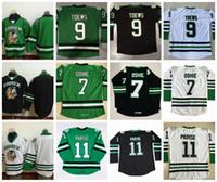 Wholesale Mens Hockey Jerseys - Mens North Dakota Fighting Sioux College Hockey Jerseys 9 Jonathan Toews 11 Zach Parise 7 TJ Oshie University Throwback Stitched Jerseys