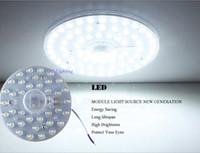 geführt für pcb board weiß großhandel-1 STÜCK Runde platine led modul 12 watt 18 watt 24 watt 36 watt Ersetzen deckenleuchte WEIß / WARM WEIß licht nachrüsten