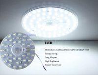 led para pcb board blanco al por mayor-1PC Tablero pcb redondo módulo led 12w 18w 24w 36w Reemplace la lámpara de techo BLANCO / BLANCO CÁLIDO retroadaptado